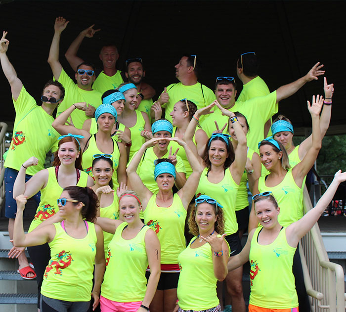 Image of Ohioans Home Healthcare team at dragon race.