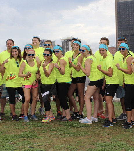 Ohioans team participating in the annual Dragon Boat race.