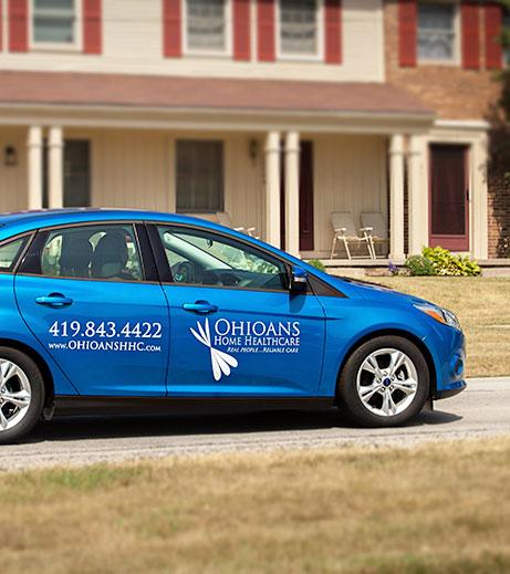 Image of Ohioans employee vehicle.