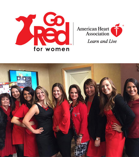Image of Ohioans home healthcare team at Go Red community event.