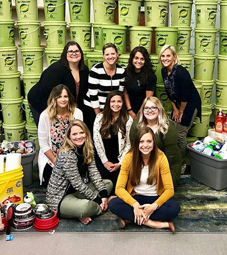 Image of Ohioans employees ate Hurricane Harvey fundraiser.