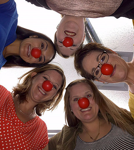 Ohioans employees participating in Red Nose day.