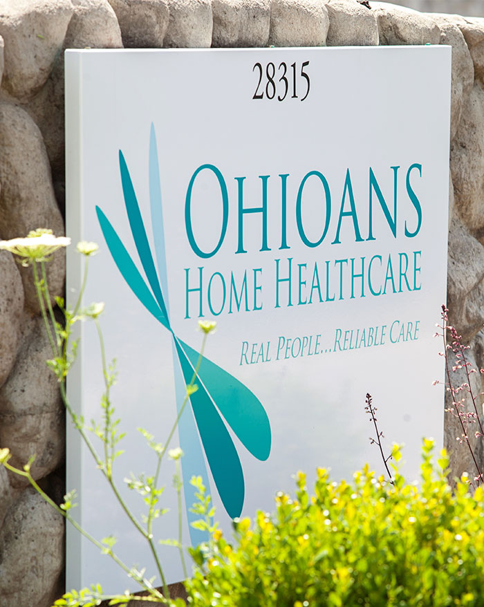 Ohioans Home Healthcare exterior sign.