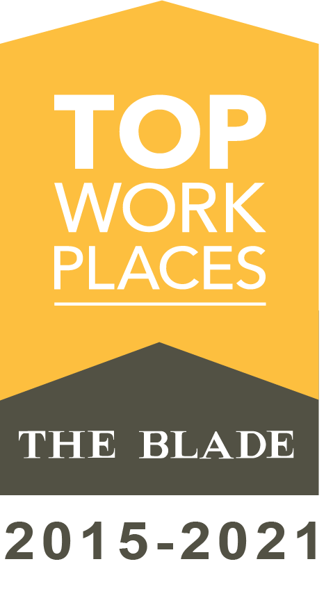 Image of award from the blade for top work place.